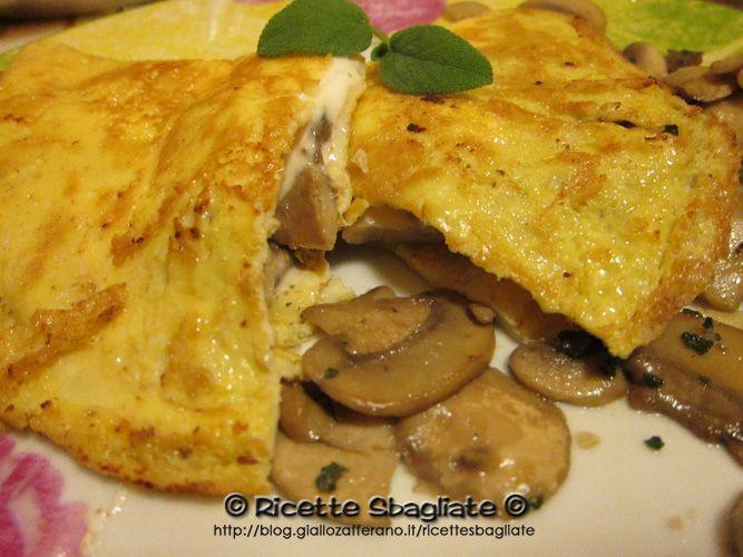 Omelette funghi e stracchino