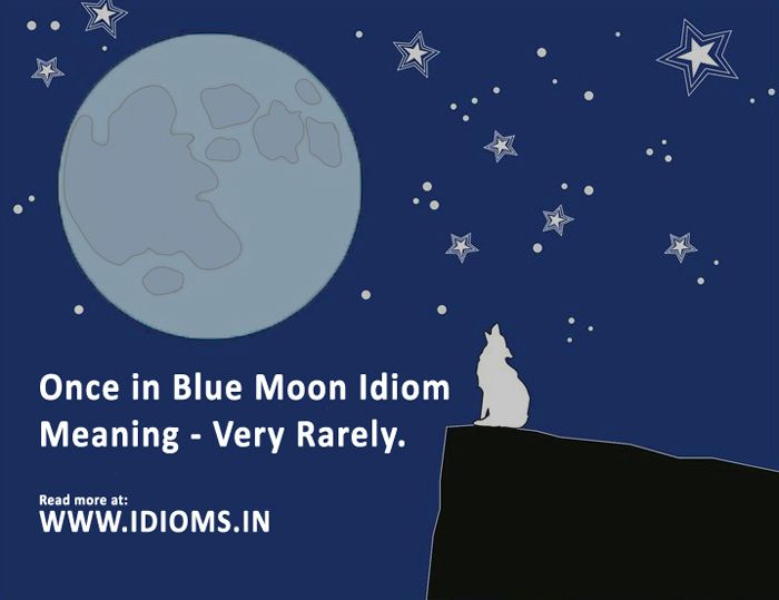 Once in a Blue Moon idiom meaning and origin with great