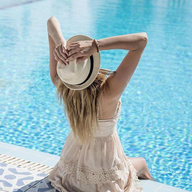 #pool #hat #hair #ootd #lookbook #bloggerstyle #blogger #summer #summerstyle #modellife #modellife #girl #swim #sun…