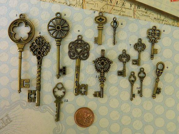 28 touches squelette antique bronze par GlowberryCreations sur Etsy                                                                                                                                                      Plus