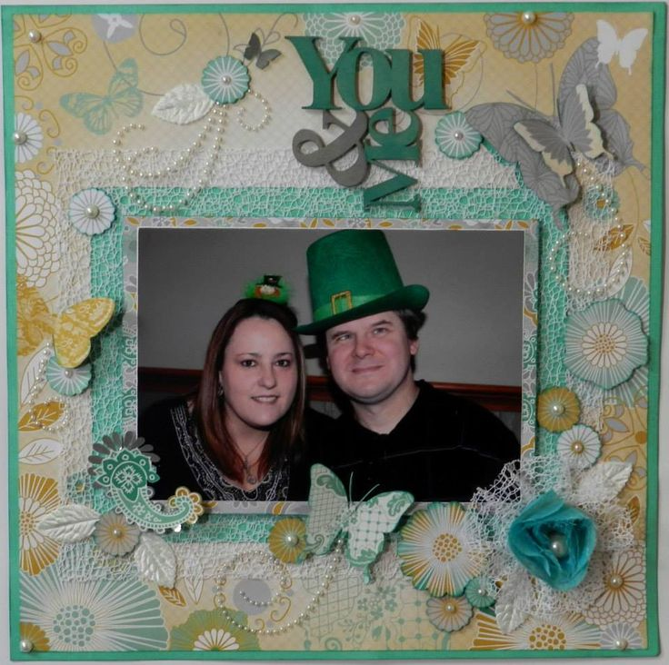 ~*~*~ You & Me ~*~*~ This is my version of PH designer, Alicia O'Connell's page titled 'Precious'. It was designed using the 'Elegance' paper range by Kaisercraft. #purplehedgehog #layout #elegance #scrapbooking #irish #stpatricksday