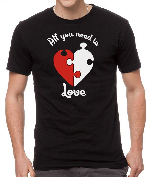 All+You+Need+Is+Love+Black+Men+T-Shirt
