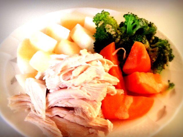 味噌に豆乳とお酢を入れてかけました! - 13件のもぐもぐ - ササミと温野菜 by 3thinsilk