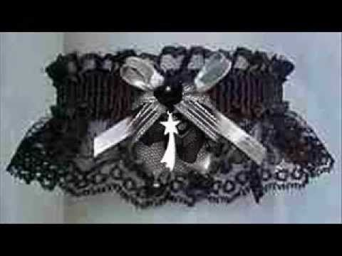 Create Black Magic. Shimmering Silver Metallic and Black Lace Garters for Prom, Wedding, Bridal. Silver & Black Prom Garters. Silver & Black Wedding Garters. Silver & Black Bridal Garters. Take advantage of the bridal garter selection. Keep the prom garter tradition. Visit: www.garters.com/page33a.htm