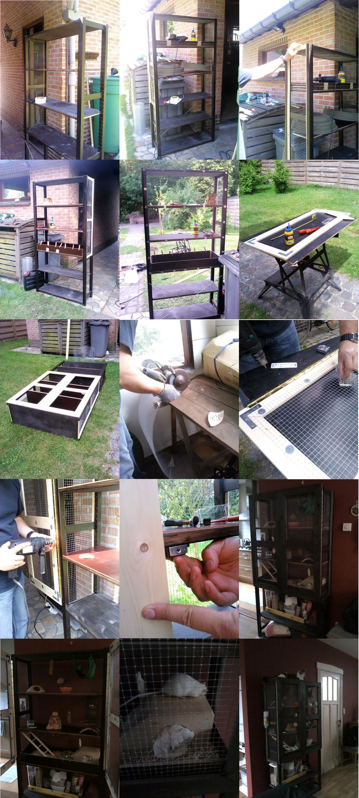 Ikea Shelf Rat Cage: Some time ago my stepdad and I made a ratcage out of an IKEA shelf. Just wanted to share the process