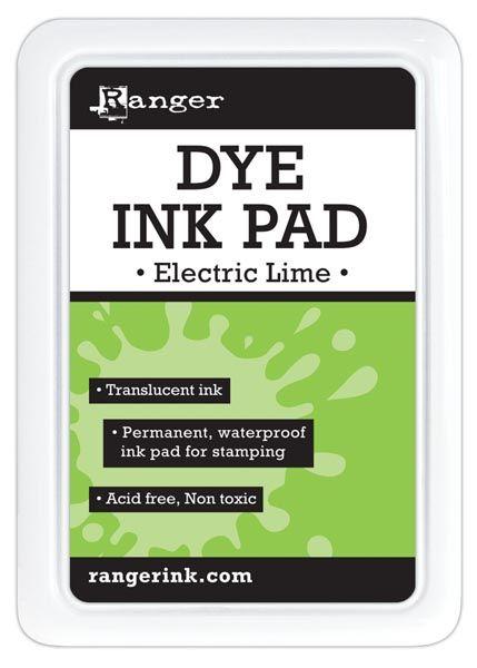 Ranger - Dye Ink Pad - Electric Lime::Ink pads::Inks::Drawing & Illustration::ArtistSupplySource.com