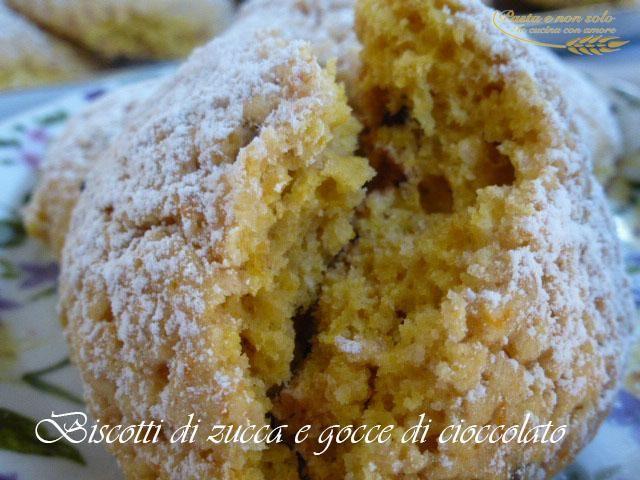 biscotti zucca e gocce di cioccolato2   http://www.pastaenonsolo.it/biscotti-zucca-e-gocce-di-cioccolato/