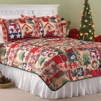 Winter Holiday Quilt Set- Indoor Holiday Décor - Gallery Product Groups