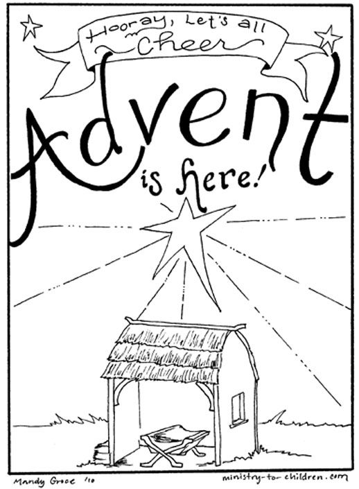 Advent Coloring Page- 10 different websites with coloring pages