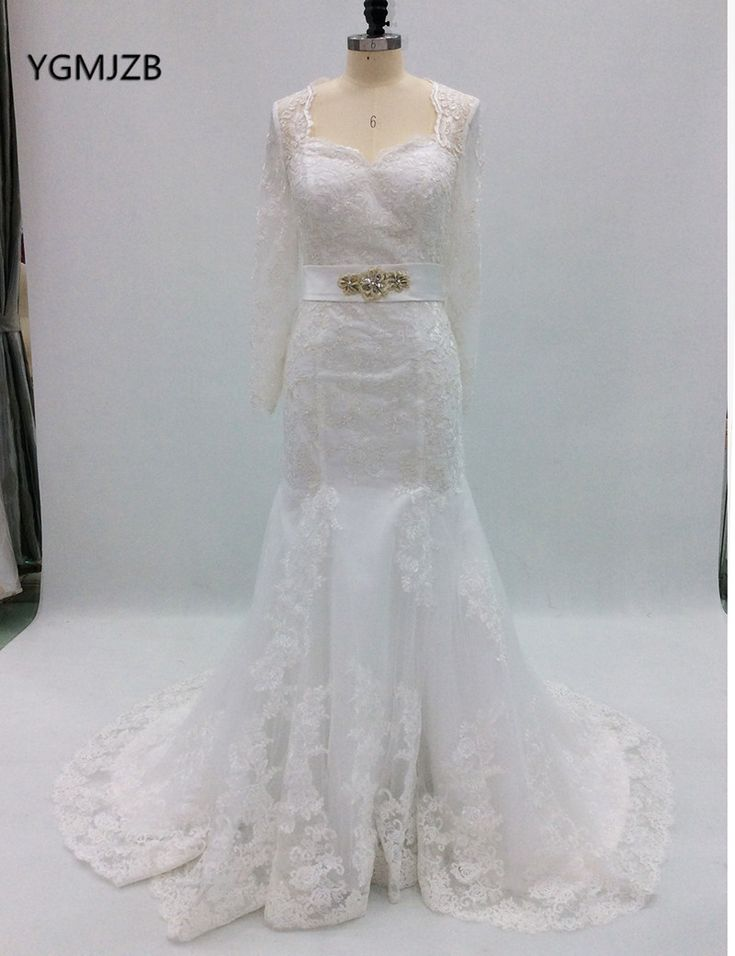 Find More Wedding Dresses Information about Elegant Vintage Lace Wedding Dress Plus Size 2018 Mermaid Long Sleeves Beaded Open Back Bridal Gown Trouwjurk Vestido De Noiva ,High Quality vestido de noiva,China vestido de noiva plus Suppliers, Cheap de noiva from Shop1404230 Store on Aliexpress.com