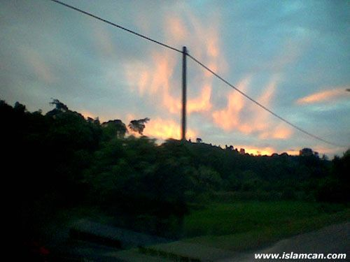 Allah's Name Appears on Clouds in Lembu's Mountain Langkawi, Indonesia islamic miracle picture