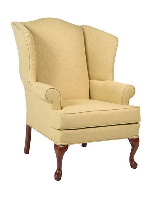 Erin Yellow Wing Back Chair Accent Chairs Furniture
