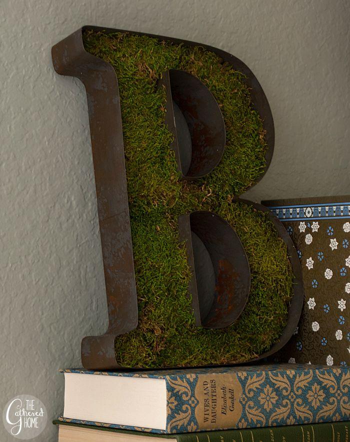 Swap It Like Its Hot DIY Rusty Moss Letter 3