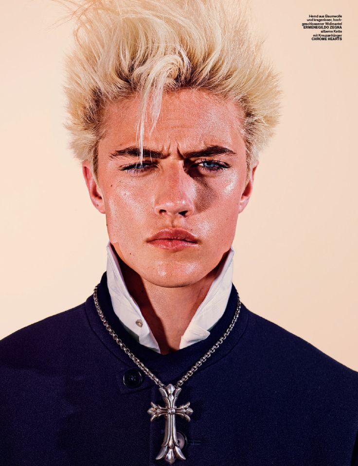 Lucky Blue Smith Channels Billy Idol for Numéro Homme Berlin-Drawing influence from Billy Idol for fashion inspiration