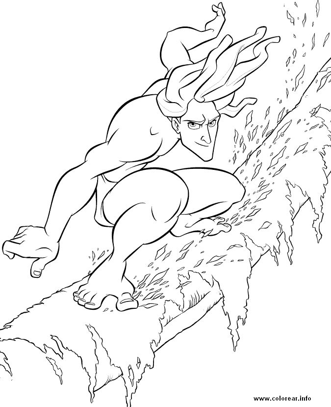 64 best tarzan colouring pages images on Pinterest   Coloring pages ...