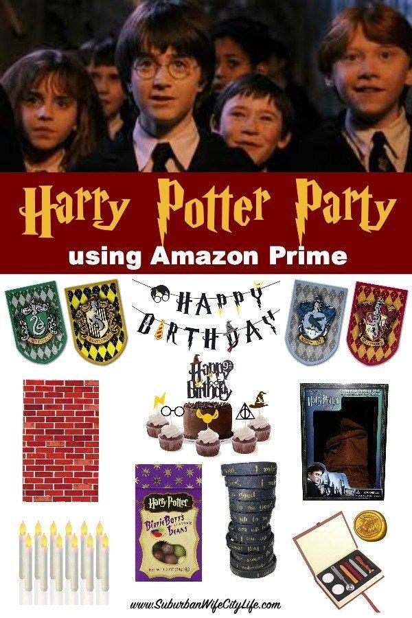 Harry Potter Party Using Amazon Prime Harry Potter Birthday Party Harry Potter Party Decorations Harry Potter Birthday