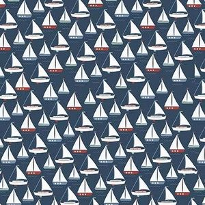 Designs by Dani - By The Sea - Sea Boat in Navy