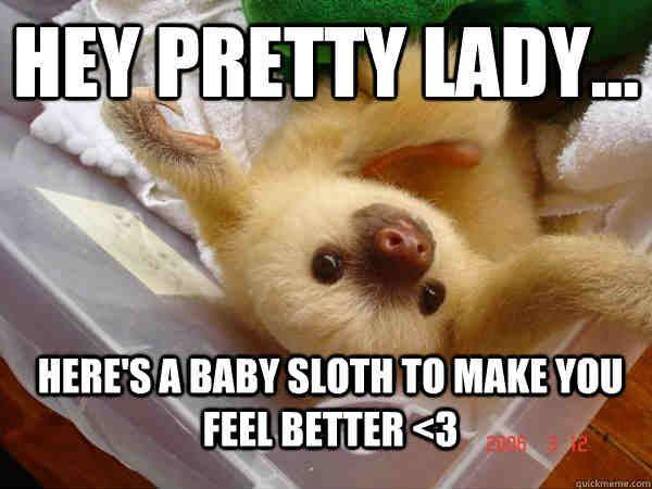 20 Laughable Memes To Make Anyone Feel Better About Life Sayingimages Com Sloth Meme Feel Better Meme Sloth
