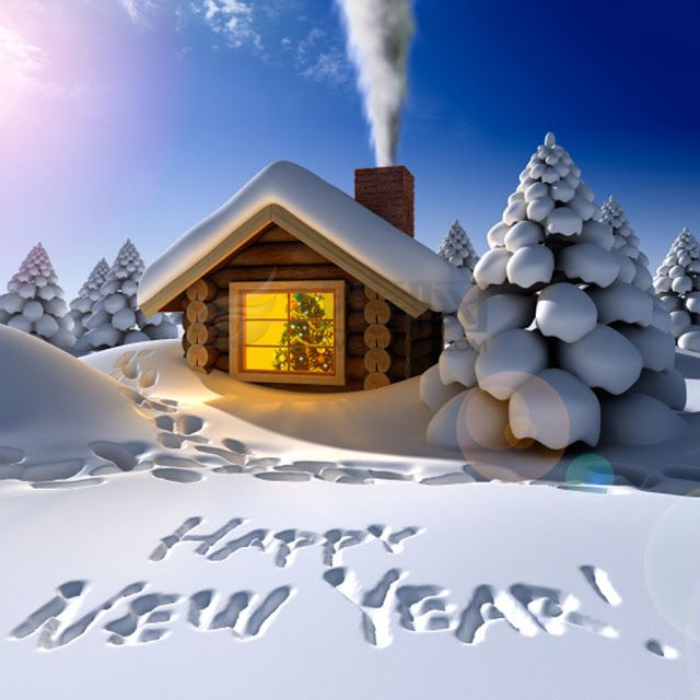 Image result for happy new year 2018 cottage images