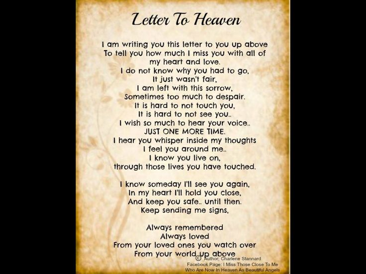a letter from heaven letter to heaven grief 32603