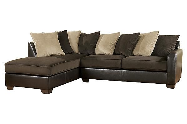 Ashley Furniture Sectional Chocolate the gemini - chocolate sectional from ashley furniture homestore