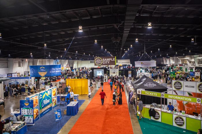 Interior view… over 27,000 attendees!  Halal Food Festival June 14-15, 2014