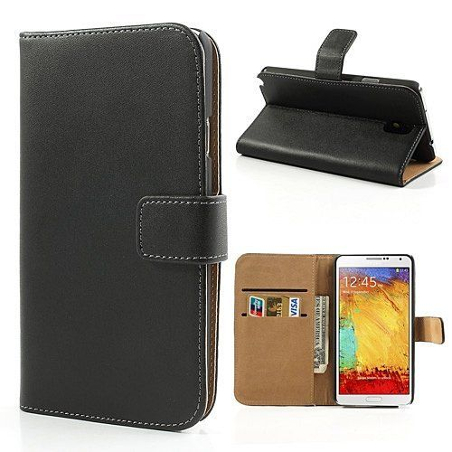 From 9.90:Samsung Galaxy Note 3 Genuine Leather Wallet Case Inc Business Card Holders 2 Clear Screen Protector