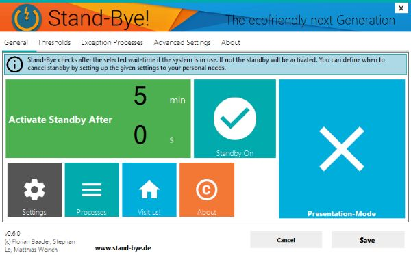 Stand-Bye software lets you configure Windows Sleep mode and save power