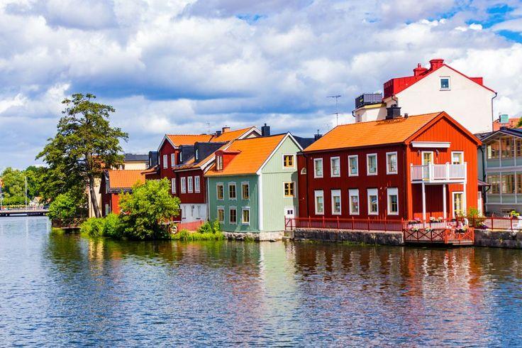 Old Town of Eskilstuna by Carl Hult