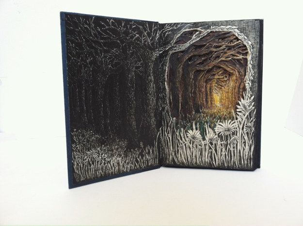 She uses old ones friends give her and abandoned works she finds while walking around Seattle. | This Avid Reader Makes Gorgeous 3D Art Out Of Abandoned Books