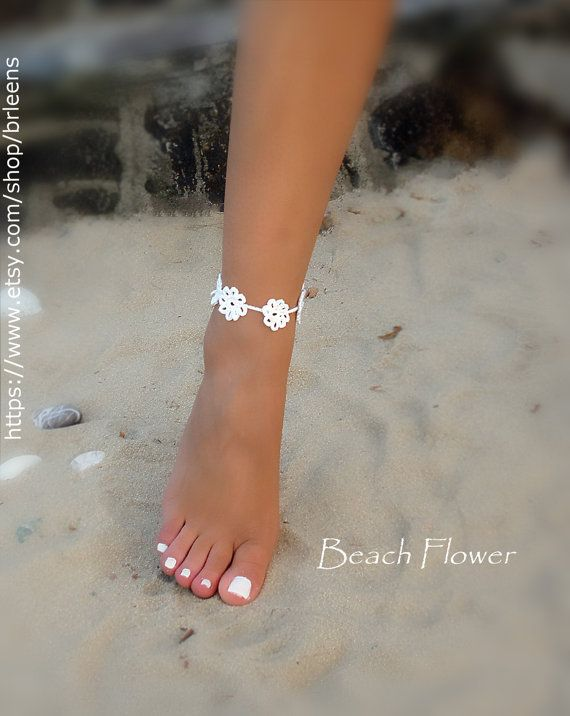Hey, I found this really awesome Etsy listing at https://www.etsy.com/listing/478490671/bridal-crochet-barefoot-sandals-ankle