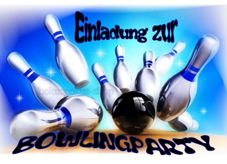 8 Einladungskarten Bowling Kegeln Kindergeburtstag Kinder Einladungen  Geburtstag