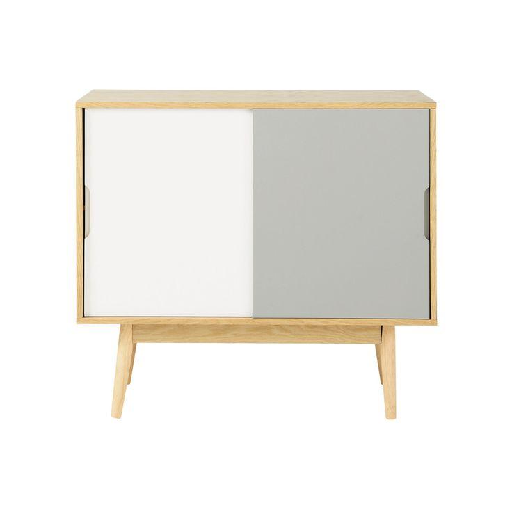 anrichte im vintage stil aus holz b 90 cm wei grau scandinavian bedroom pinterest. Black Bedroom Furniture Sets. Home Design Ideas