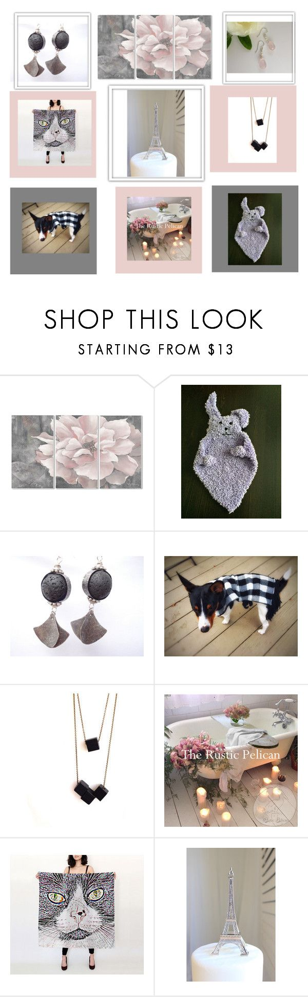 Blush by therusticpelican on Polyvore featuring Stupell, Tela Beauty Organics, modern, contemporary, rustic and vintage