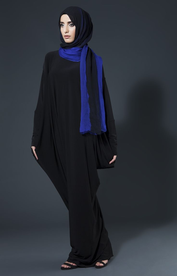 Free Fall Abaya - Black #AabCollection #WhatsNew #NewArrivals #NewatAab #Black #Abaya #Fashion