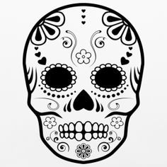 Best 25 sugar skull stencil ideas on pinterest sugar skull simple sugar skull designs google search pronofoot35fo Images