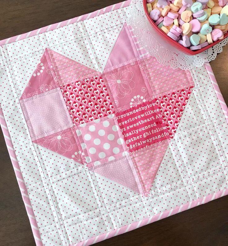 Free Quilt Pattern: Heart Quilt Block