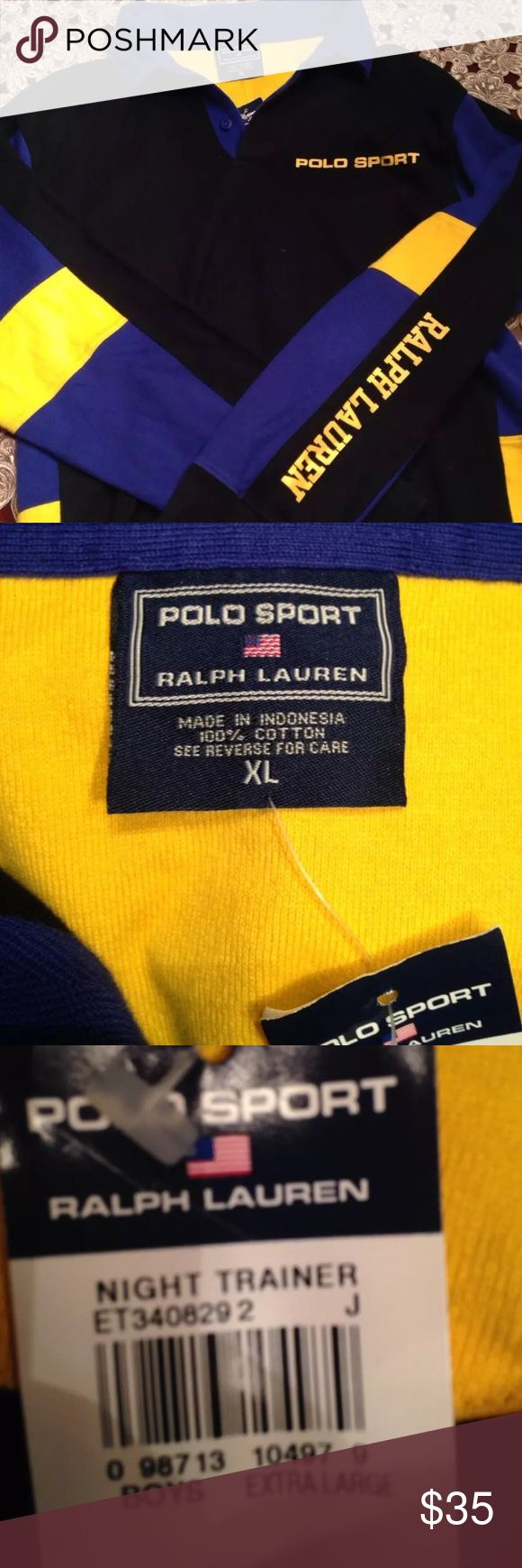 Polo Sport Ralph Lauren Kids Long Sleeve Tee Great condition Polo by Ralph Lauren Shirts & Tops Polos