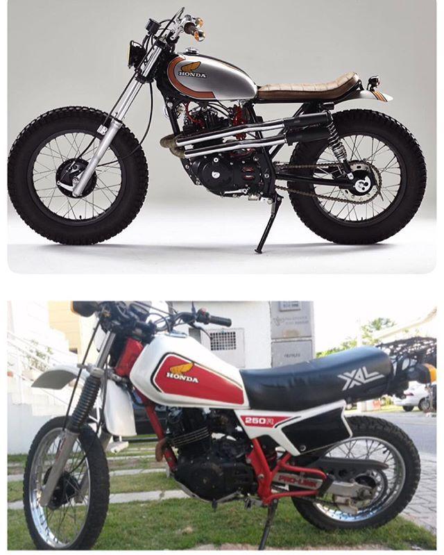 Antes e depois. Dá para acreditar?? #honda #xl250 #c2r #scrambler #caferacer #caferacerbrasil #custom #customização #vintageculture