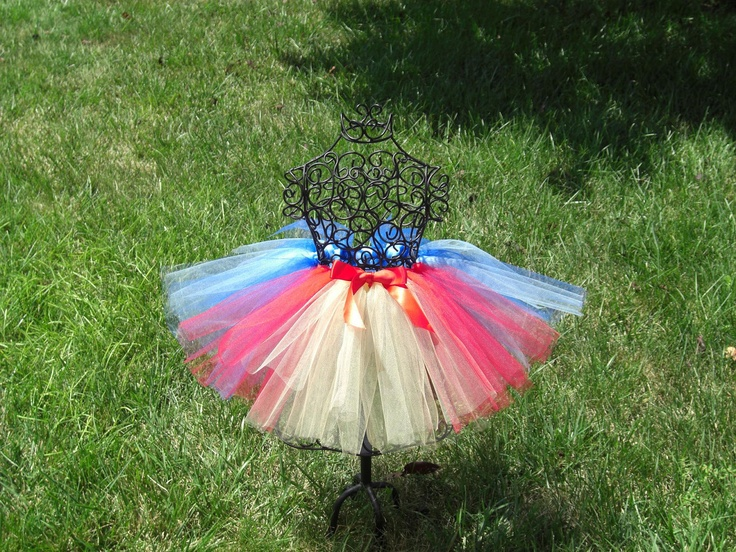 Girls Tutu- Girls Snow White Tutu- Princess Tutu- Baby Snow White Costume- Blue Tutu, Yellow Tutu, Red tutu- Disney Costume. $20.00, via Etsy.