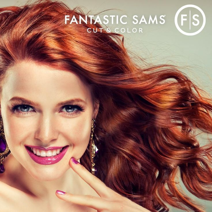 Red is an attention grabbing hair color—get ready to turn heads!  http://www.fantasticsams.com/ #RedHair #Hair #HairColor #FantasticSams #CutAndColor