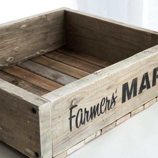 If you love old crates, making one from pallet wood and a cool stencil is a breeze!