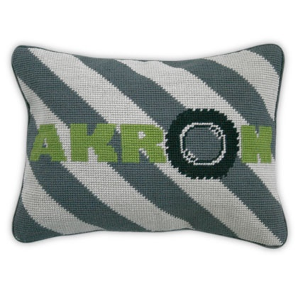 when i see someone boarding a flight to akron, i instantly feel sorry for them.  however, i want this pillow for some strange reason.  #jonathanadler