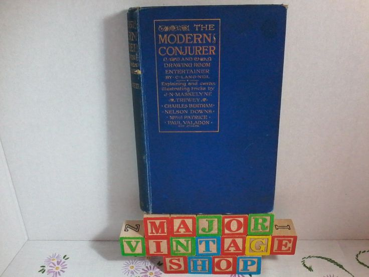 "1903 1st edition ""THE MODERN CONJURER"" by C. Lang Neil by MajorVintageShop on Etsy"