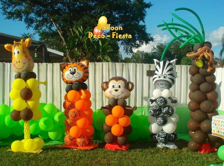Safari animales | Decoracion globos!!! | Pinterest