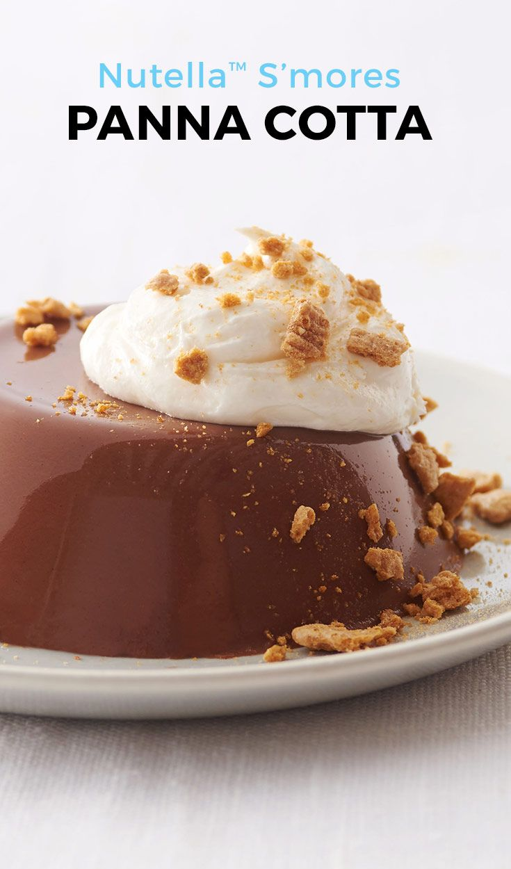 Nutella™ and s'mores are the perfect combination in this simple panna cotta recipe. Everyone's favorite summer treat just got a major upgrade. No campfire needed!