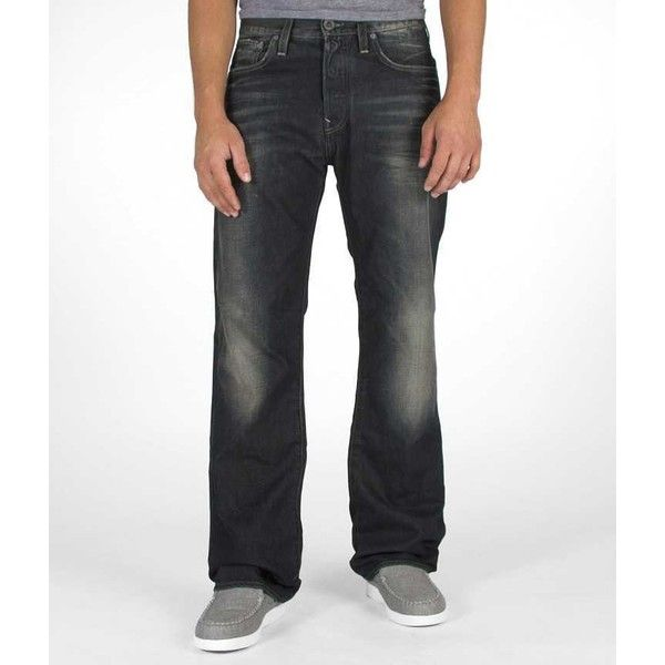G-Star Raw 3301 Jean ($51) ❤ liked on Polyvore featuring men's fashion, men's clothing, men's jeans, blue, mens blue jeans, mens leather jeans, mens button fly jeans, men's regular fit jeans and mens straight leg jeans