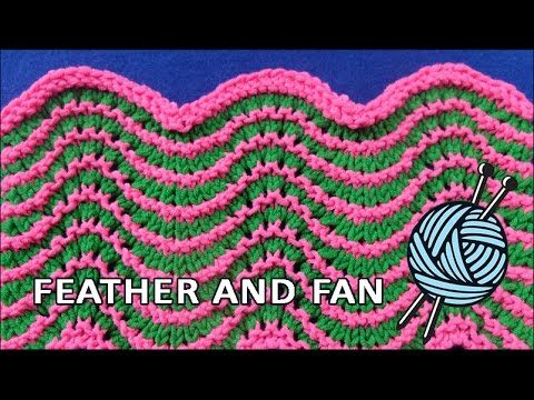www.joannesweb.com A gorgeous knitted pattern. This is a tutorial for a simple the knitted Feather and Fan Stitch. Pattern Instructions: Fan and Feather Row ...