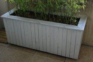 Construire une jardini re en bois de et plus - Construction jardiniere palette ...