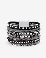 Leather Multi-Row Bracelet http://www.vannajewelry.com/